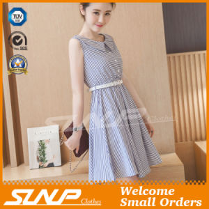 OEM High Quality Stripe Women Fashion Dress