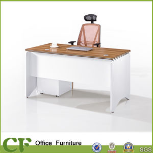 Wooden Legs Executive Table with Mobile Pedestal pictures & photos
