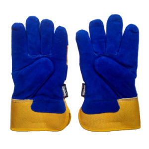 Cow Split Leather Safety Protective Winter Warm Gloves for Working pictures & photos