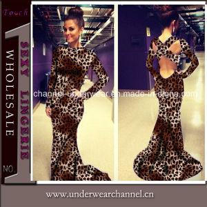 Fashion Leopard Print Women Cocktail Dress (TMK8026) pictures & photos