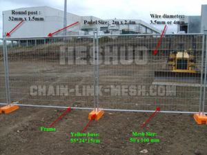 Hot-DIP Galvanized Australia Temporary Fence for Construction pictures & photos