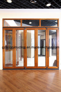Wooden Folding Door with Double Glazing Tempered Glass pictures & photos
