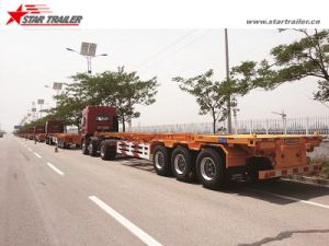 3axles 60ton Container Semi Truck Trailer with Skeletal Type pictures & photos