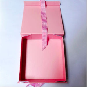 Large Baby Pink Cardboard Foldable Paper Gift Box pictures & photos