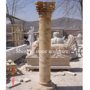 Gold Stone Sculpture Marble Column (SY-C014) pictures & photos