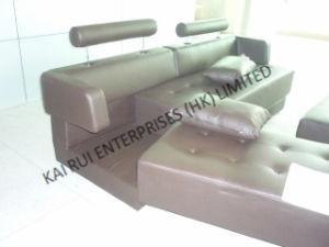 Brown PVC Popular Modern Corner Sofa pictures & photos
