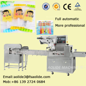 China Foshan Manufacturer Pillow Flow Popsicle Wrapper Equipment Price pictures & photos