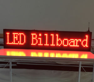 40X8 Inch P10 Indoor Red LED Sign Wireless and USB Programmable Rolling Information 1000X200mm LED Display Screen pictures & photos
