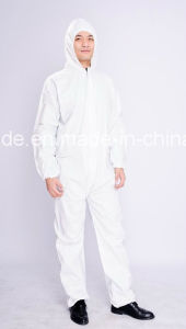 Protective Disposable Microporous Film Sf Coverall Disposable Clothes pictures & photos