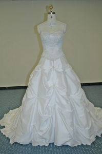 Strapless Sweet Heart Swarovski Crystals Wedding Dresses (WD1226) pictures & photos