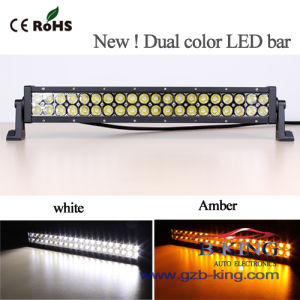 Dual Colour (white+amber) 120W CREE LED Light Bar pictures & photos
