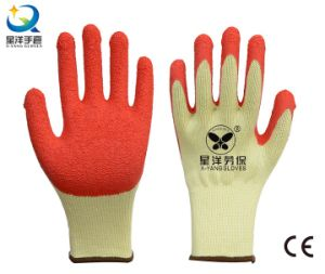 21 Gauge Yarn Latex Palm Coated Safety Glove pictures & photos