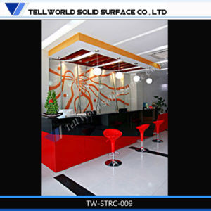Tw Latest Design Fancy Rectangle Reception Desk Modern High Gloss on Sale pictures & photos