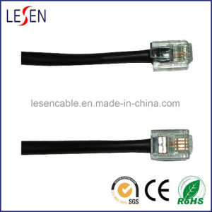 Rj11 Round Telephone Cable, Any Lengths and Colors Are Available pictures & photos