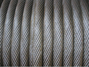 Non-Roating Ungalvanized Steel Wire Rope with Yellow Grease pictures & photos