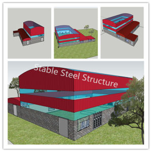 Pre Engineered Steel Structure Factory Material to Build Abattoir pictures & photos