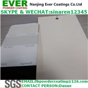 2017 Electrostatic Spray Cream Color Ral9001 Powder Coating pictures & photos