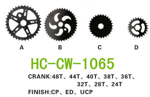 Bicycle Crankset, Bicycle Sprocket (CW-1065) pictures & photos