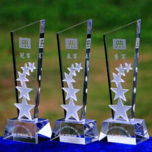 Exquisite Transparent Crystal Trophy for Business Gift pictures & photos