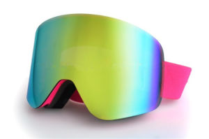 Mirror Lens Snowboard Mask Goggles with Changeable Lenses pictures & photos