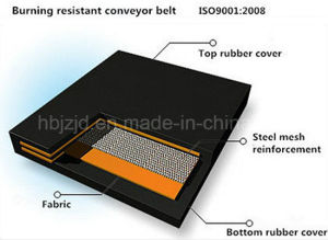 Burning Fire Resistant Rubber Conveyor Belt pictures & photos