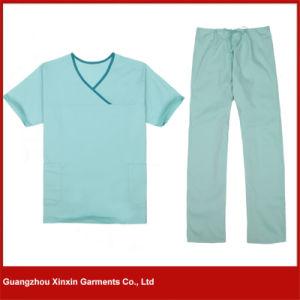 Factory Wholesale Cheap Hopspital Medical Scrubs Suits 2 Pieces Uniform (H7) pictures & photos