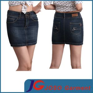 Women Denim Skinny Short Skirts (JC2094) pictures & photos