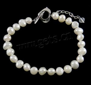 Freshwater Pearl Bracelet, Round (110426150403)