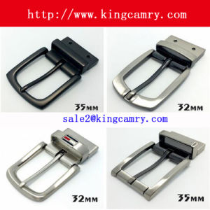 Zinc Alloy Pin Buckle Man′s Buckle Bele Buckle with Clip Reversible Buckle Roller Buckle pictures & photos