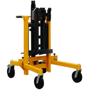 Hydraulic Drum Truck with Adjustable Legs pictures & photos