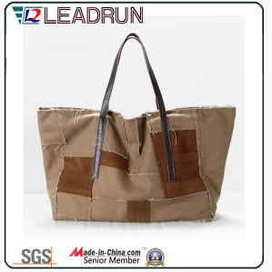 Gift Paper Nonwoven Shopping Bag Leather Cotton Canvas Handle Shopping Bag (X037)