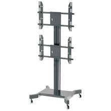 "Public Floor TV Stand Wheelbase Dual Screens 30-60"" (AVA 201F) pictures & photos"