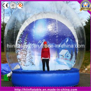 Hot Christmas Playing Bouncy Inflatable Snow Globe