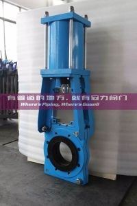 Heavy Duty Kgd Slurry Knife Gate Valve with Pneumatic Actuator pictures & photos
