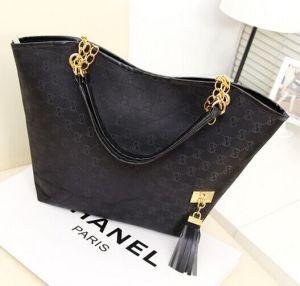 China Guangzhou Cheap Lady PU Tote Handbag pictures & photos