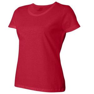 Slim Fit 100% Cotton Women T-Shirt pictures & photos