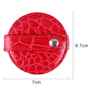 2015 Fashion Leather Round Pocket Mirror for Lady pictures & photos