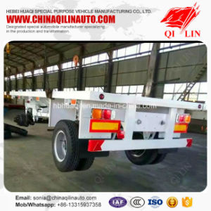 Heavy Duty 60 Tons Platform Semi Truck Trailer on Sale pictures & photos