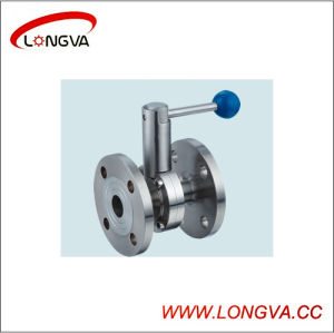 316L Sanitary Flange Ball Valve pictures & photos