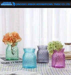 Hand-Blown Diamond Spraying Color Glassware for Hotel pictures & photos