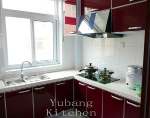 Baked Paint Kitchen Cabinet (M-L103) pictures & photos