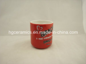 Heart Shape Ceramic Mug with Decal Printed, Promotional Ceramic Mug pictures & photos