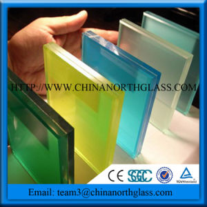 Colored Laminated Glass with Colored PVB pictures & photos