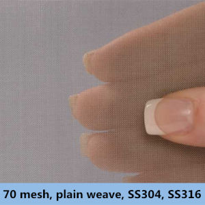 70 Mesh, 0.14 mm Wire Dia, . Plain Weave, Ss304, 304L, 316, 316L Wire Mesh pictures & photos
