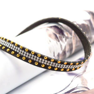 Transparent Crystal Black Leather Choker Necklaces pictures & photos