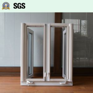 White UPVC Casement Window with Crank Lock, Roller Screen K02055 pictures & photos