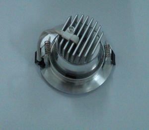 LED Aluminum Down Lamp Straight-Side Sprayed as Sand Sliver 3000k\6500k (knife-type radiator)