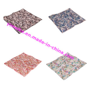 Popular Western Cotton Paisley Design Mens Hankerchief for Gift pictures & photos