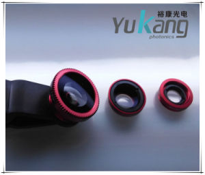 Clip Fisheye Lens/Macro+0.67x+180° Fish-Eye+ Lens for Mobilephone 3 in 1
