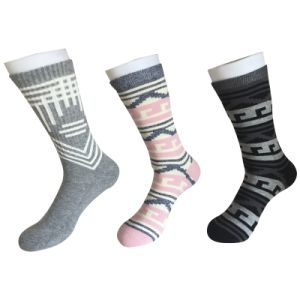 Half Cushion Cotton Fashion Logo Sport Black Socks (JMCC09) pictures & photos